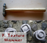Texture hammer and heads