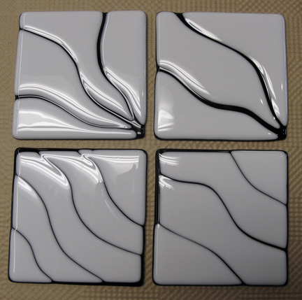Fusing glass - coasters