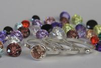 Stacking rings with cubic zirconias