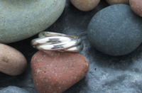 Single Sterling Silver Trinity Ring